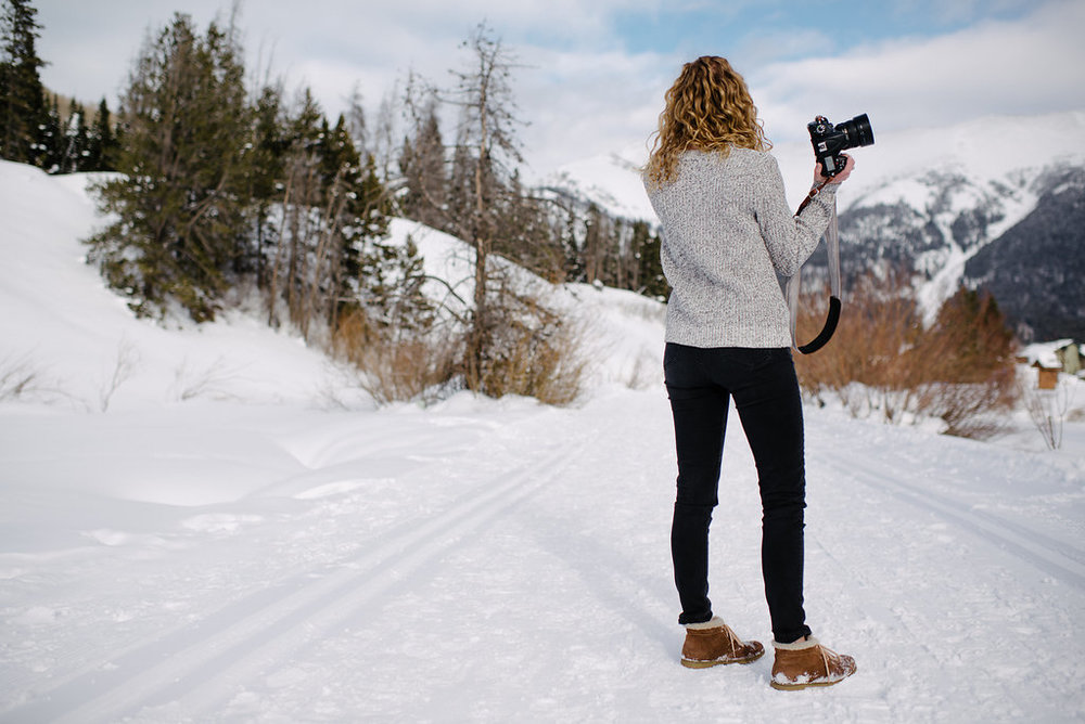Beautiful imagery photographed by Haley at  Carnefix Photography  of Copper Mountain, Colorado based photographer, Emily Schmutz, owner and photographer at Keeping Composure Photography.