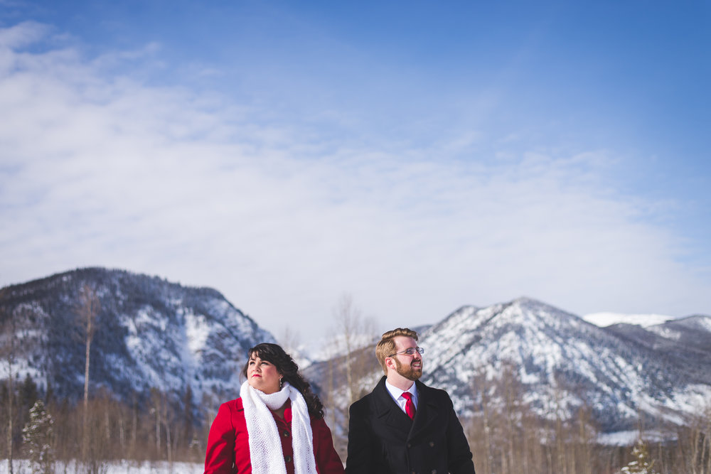Colorado winter destination elopement in the mountains | Keeping Composure Photography