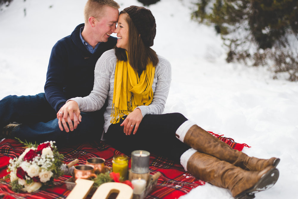 Winter anniversary portrait session in the Colorado Mountains | Choosing Colors for your Session | Keeping Composure Photography