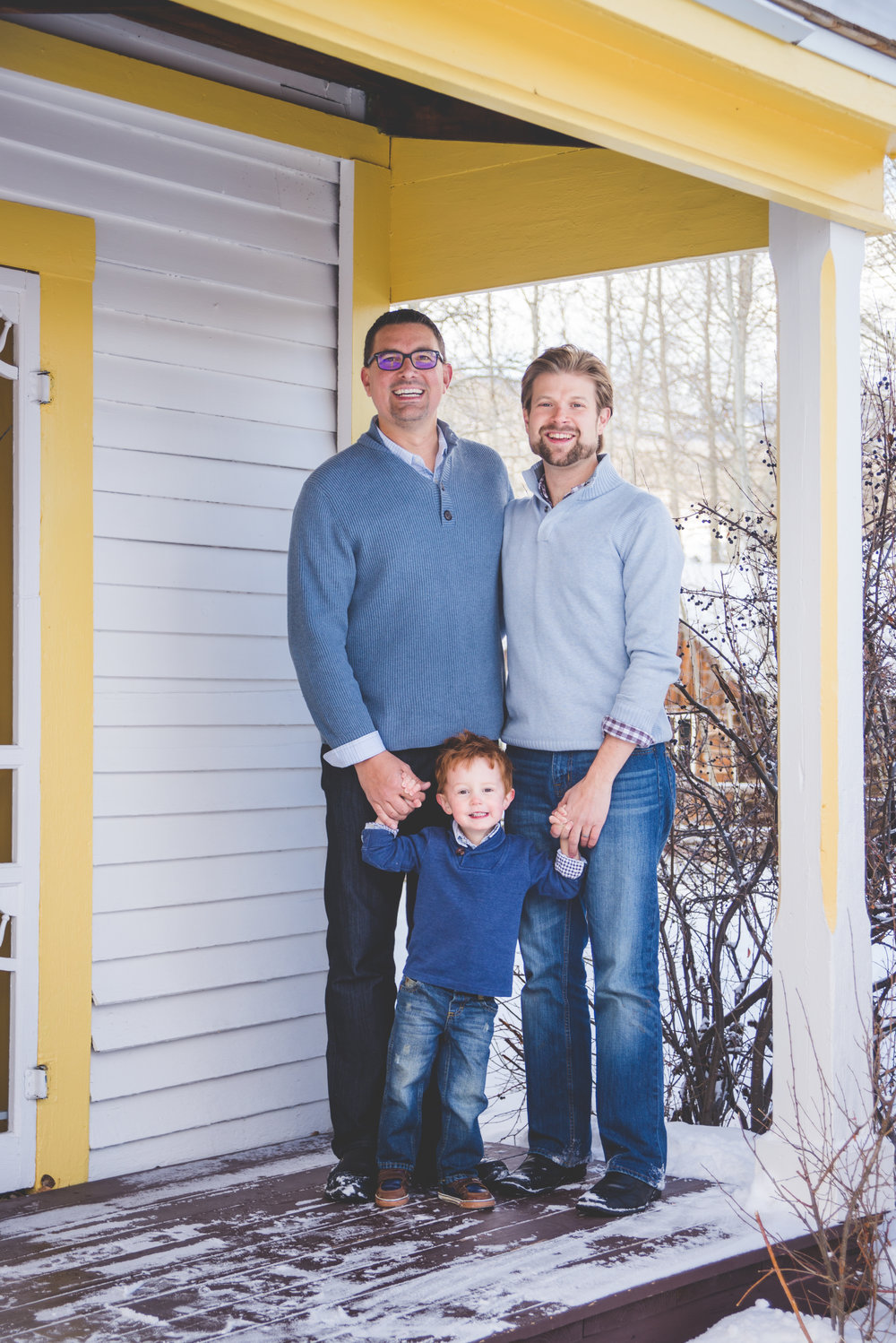 Frisco, Colorado winter family portraits in the mountains | Layered Looks for Him | Keeping Composure Photography