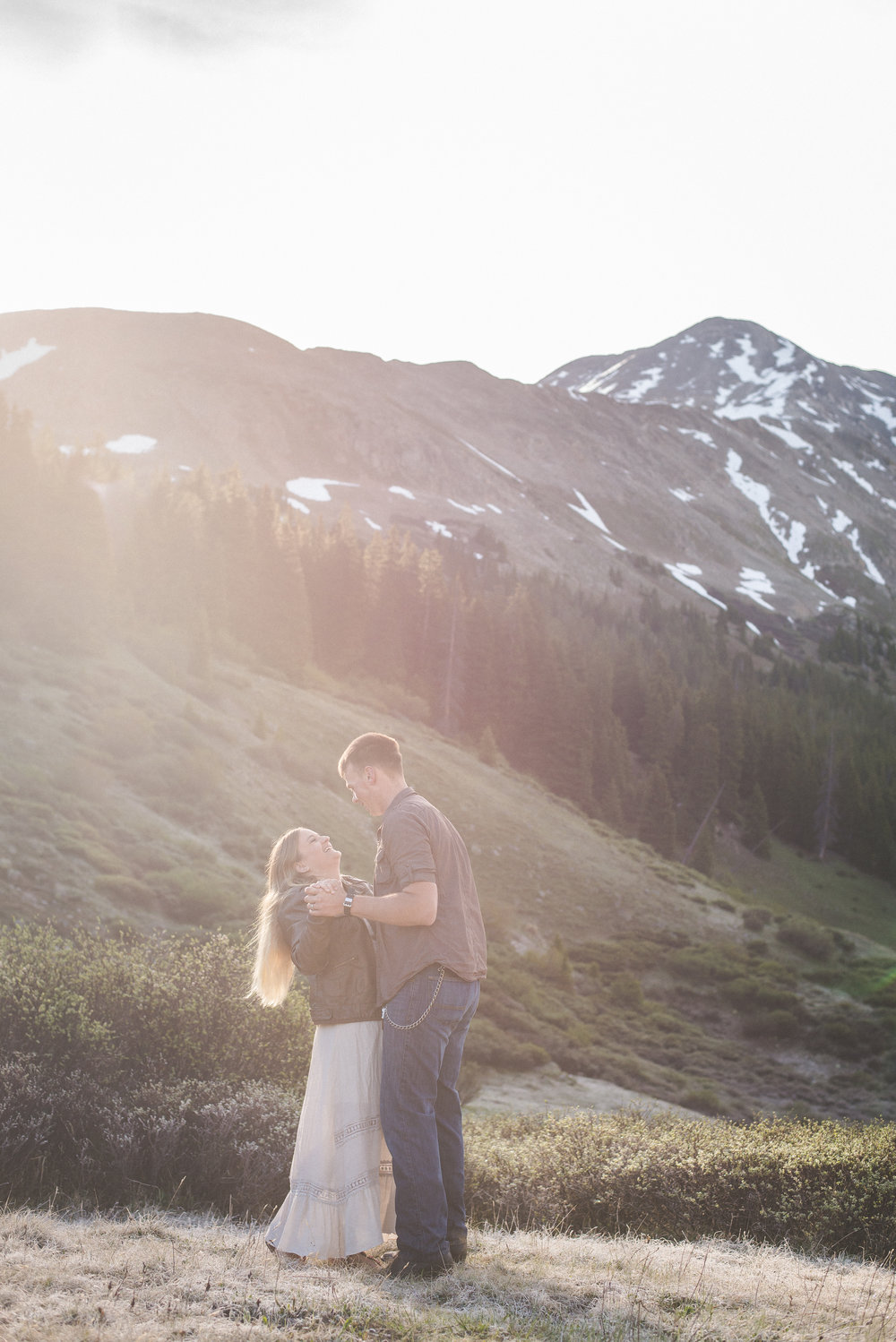 sunwashed sunrise portraits in the mountains