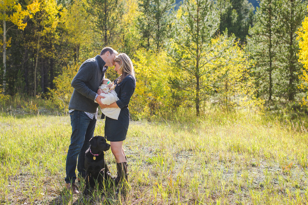 Fall Family Portraits with New Baby + Dog | Frisco, Colorado | Keeping Composure Photography