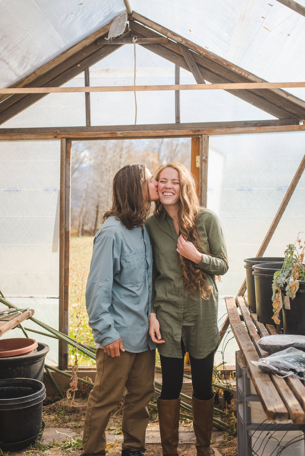 greenhouse engagement photos edwards colorado