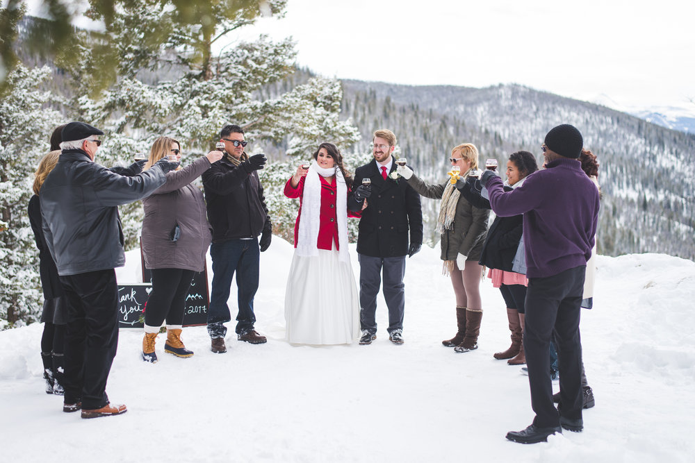 winter elopement at Sapphire Point in Colorado | keeping composure photography