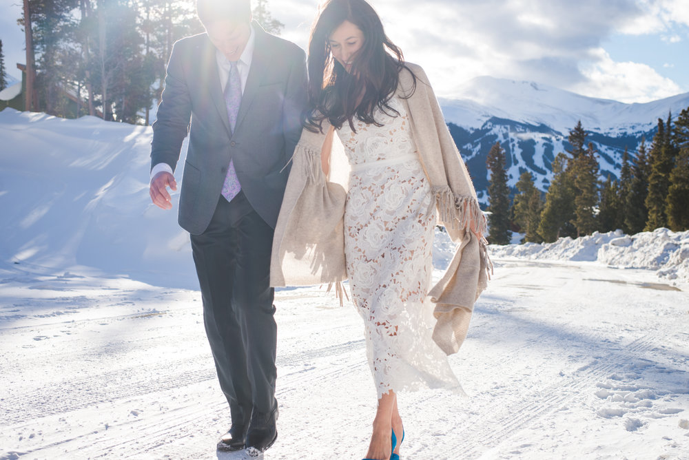 breckenridge winter intimate wedding | keeping composure photography