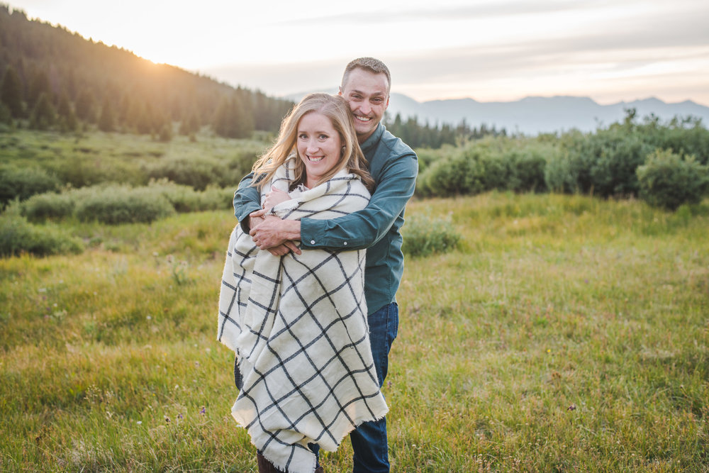 evening engagement photos on boreas pass in breckenridge, colorado | keeping composure photography