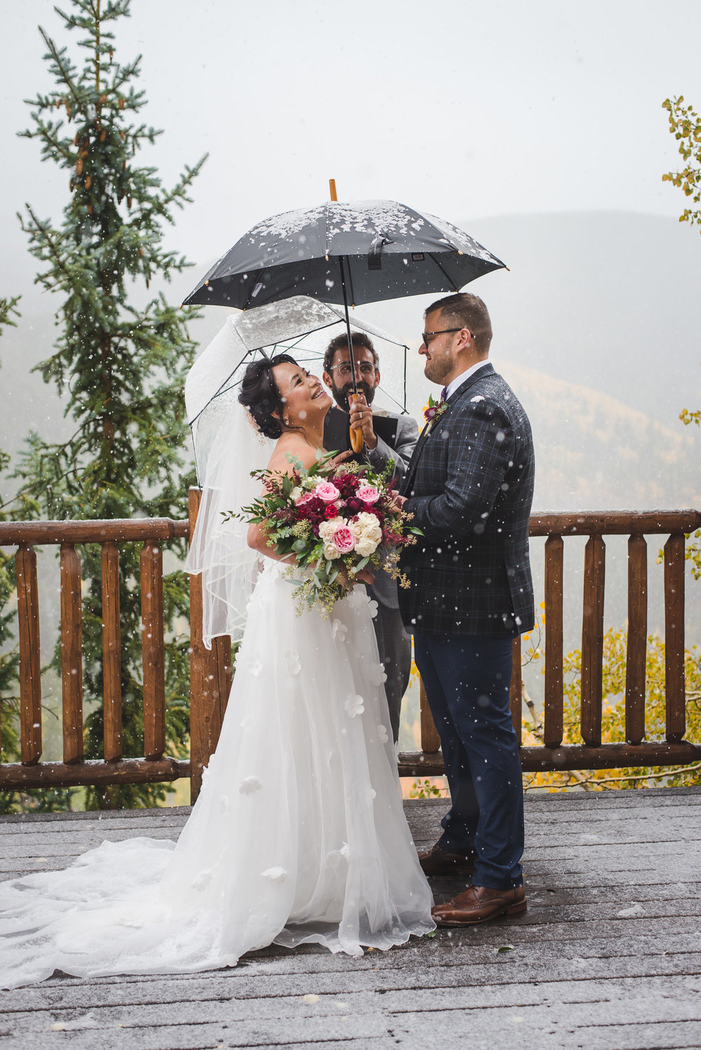 autumn snowy elopement at The lodge at breckenridge in the colorado mountains | keeping composure photography + summit mountain weddings