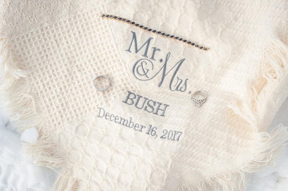 winter wedding blanket