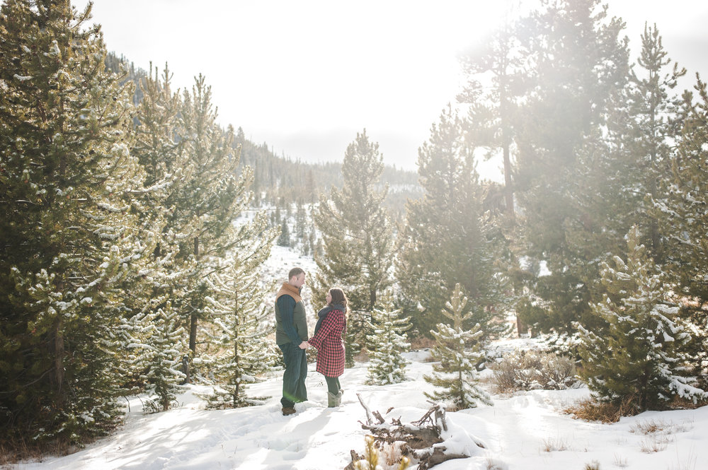 winter honeymoon portraits