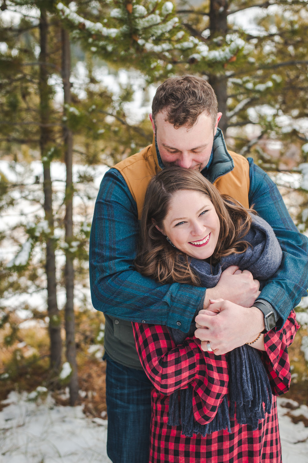 destination winter honeymoon portraits colorado