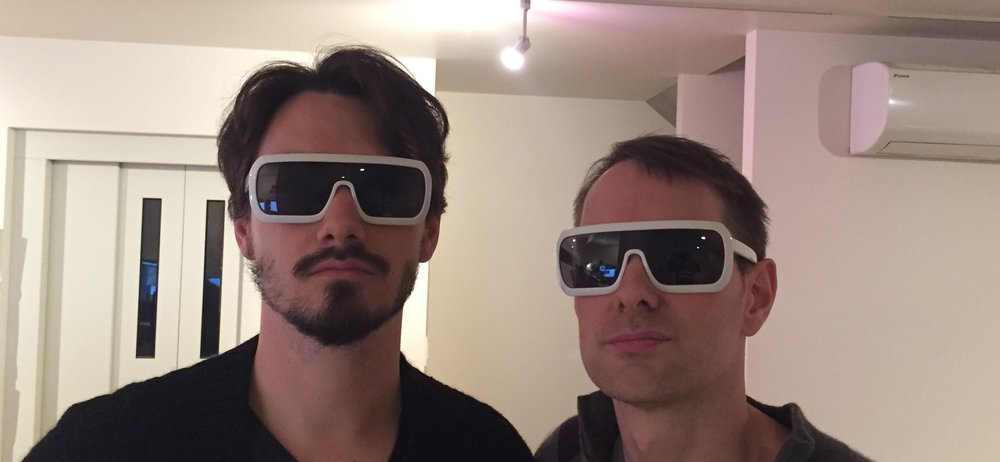 (Raz and Matt, safe at home, proudly sporting PSX FutureGlasses™)