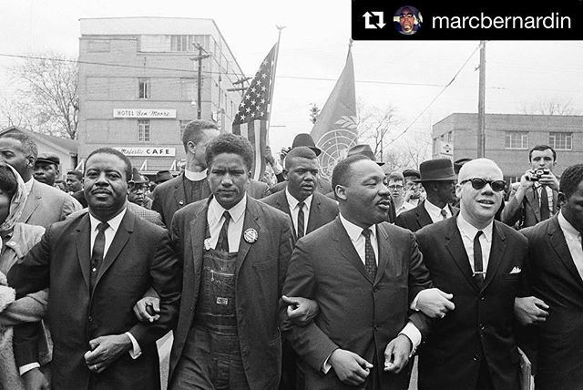 #Repost @marcbernardin with @get_repost ・・・ You will read a thousand inspirational quotes from the Rev. Dr. Martin Luther King Jr. today—many from politicians who shouldn't speak his name—but remember: He was a man. He stood and spoke and marched, but he also laughed and danced and cried. He was just a human being...who also helped change the world. #MLK
