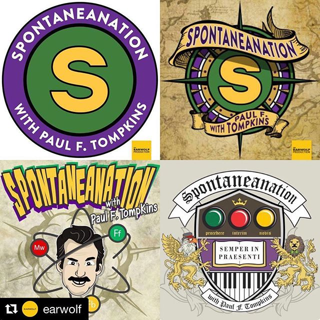 """#Repost @earwolf with @get_repost ・・・ """"Goodbye forever, until we meet again""""  Thank you @pftompkins for 200 wonderful episodes of Spontaneanation. Thank you for delightful conversation, providing a platform for wonderful improvisers, and giving us a place to hear Eban Schletter as he is only the best."""