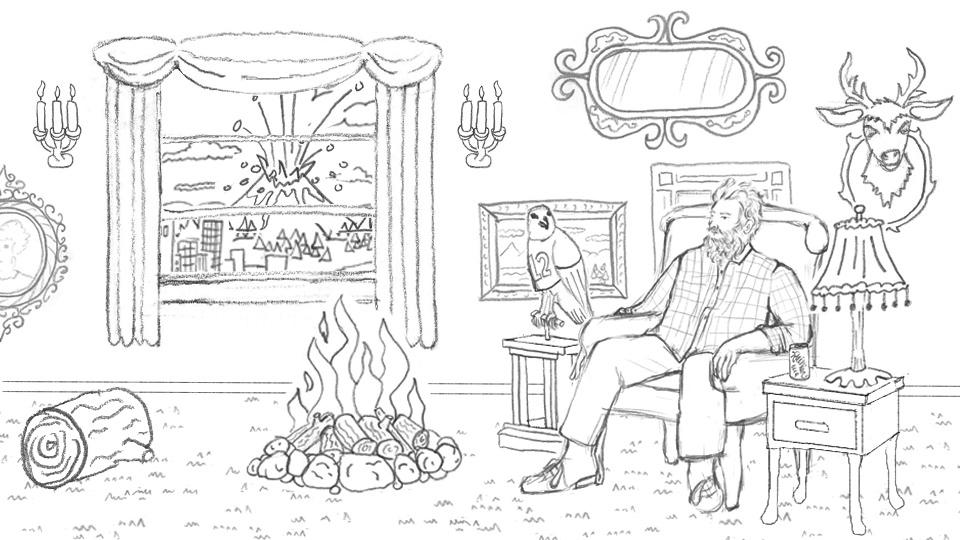 THE NEW BLANK | The Beardo Chronicles Storyboard frame