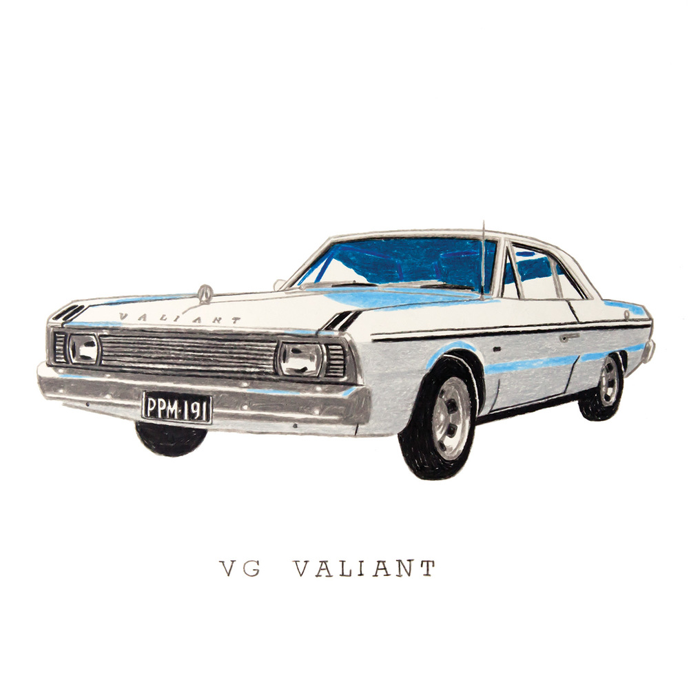 VG Valiant coloured pencil drawing