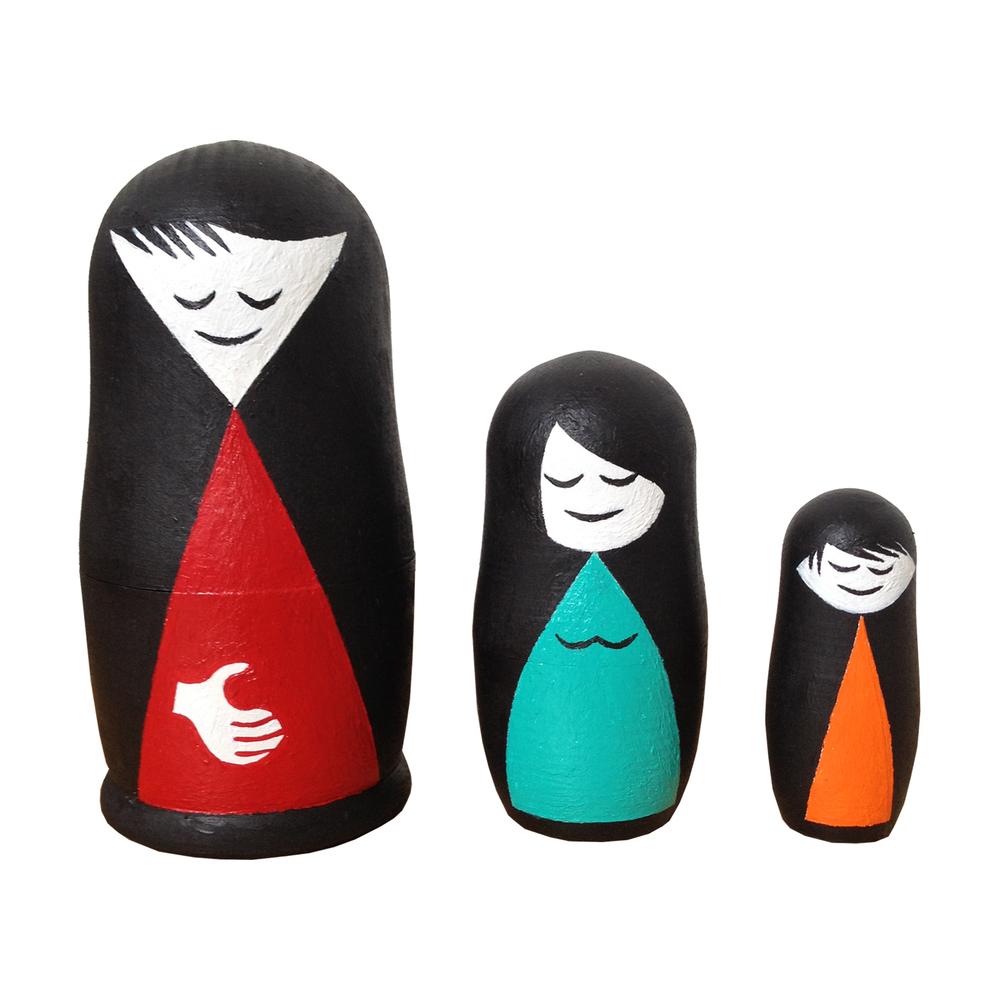 Family Babushka Dolls blank dolls, paint