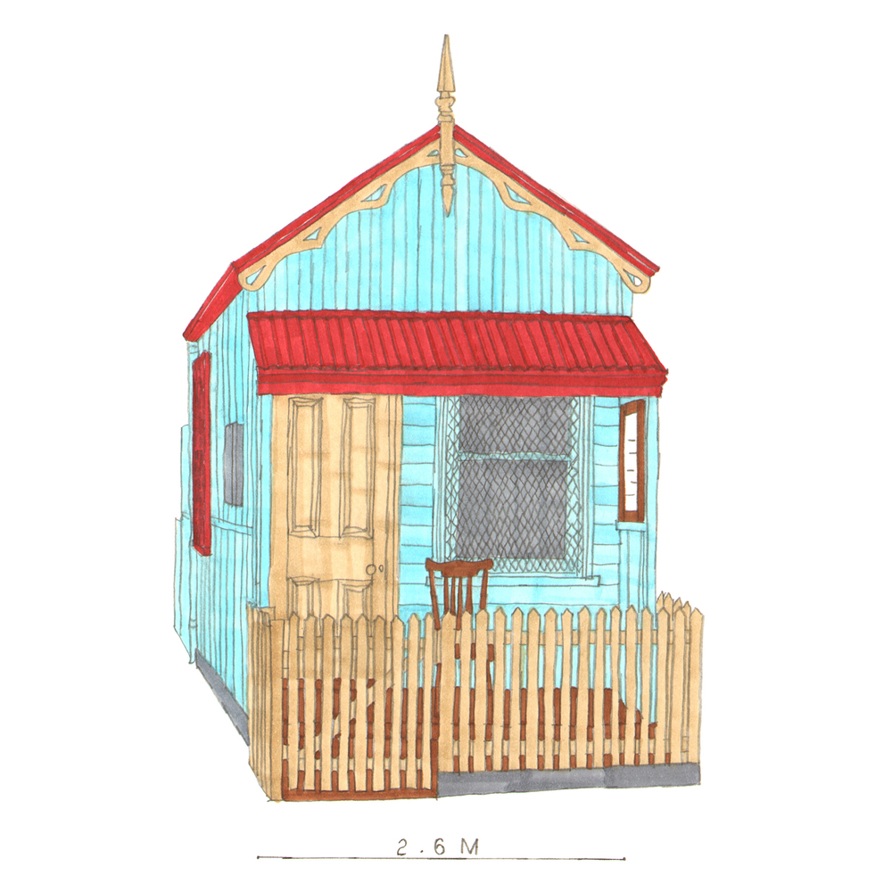 Collingwood Doll House  pencil, marker pens