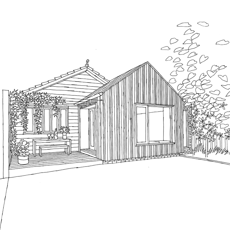 House Illustrations for LBA   freelance architectural illustrations