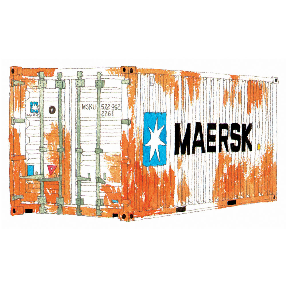Maersk Shipping Container   issue 19 2016