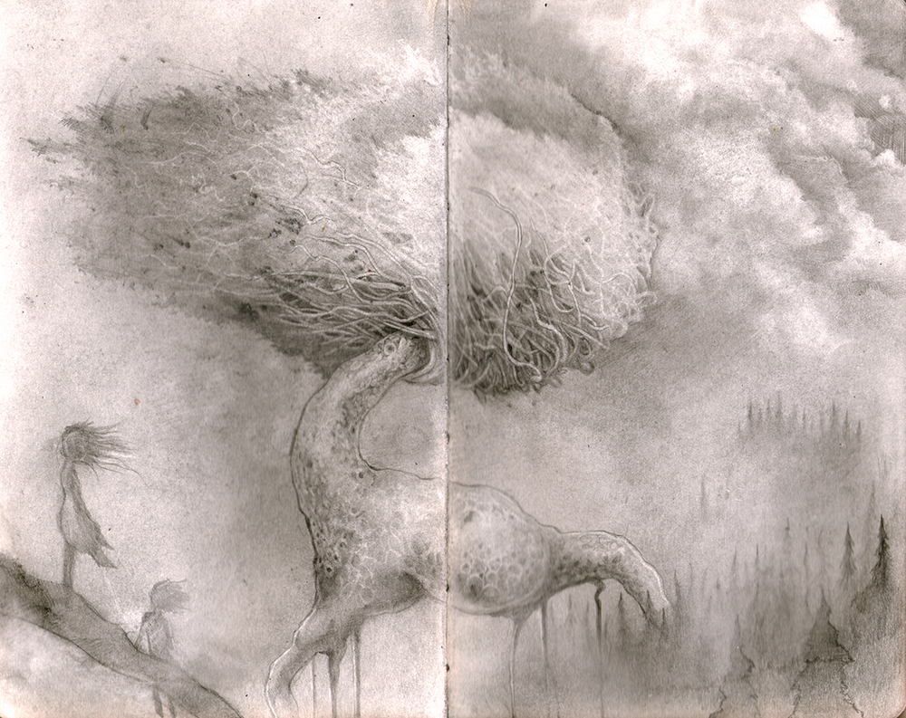 Graphite in Moleskine.