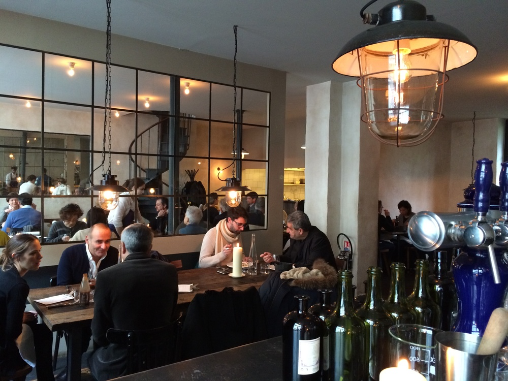 The restaurant is small, but airy. Industrial meets farmhouse vibe.