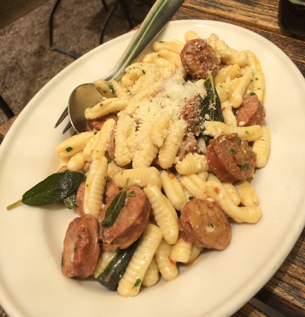 CAVETELLI WITH FAICCOS HOT SAUSAGE & BROWNED SAGE BUTTER