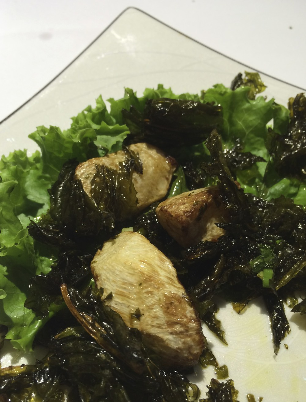 bamboo shoots with seaweed