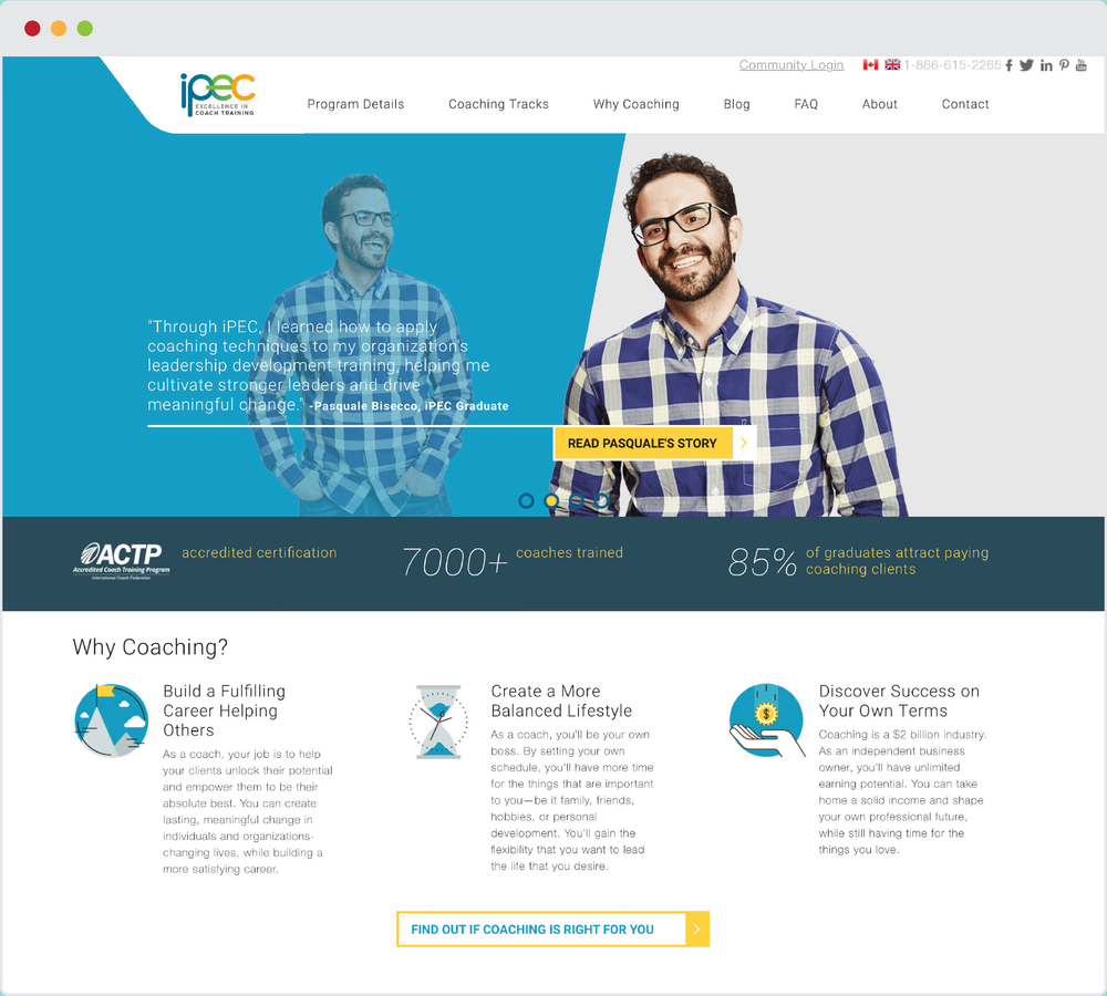 iPEC Coaching Web Design + Brand Identity  |    VIEW FULL PROJECT
