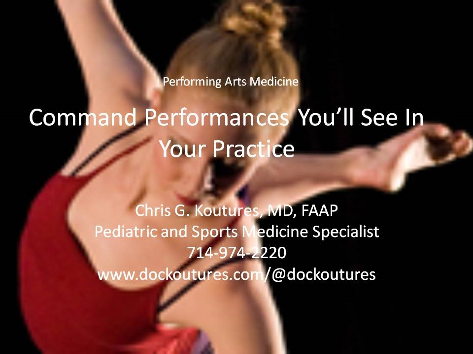 Performing Arts Medicine Grand Rounds Video