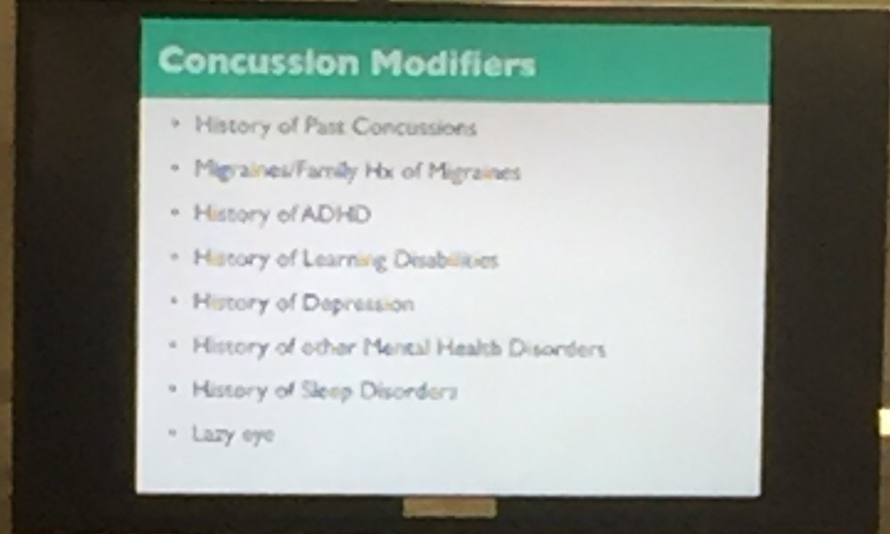 Absolutely essential to have all providers ask about these key historical aspects that can and often will impact concussion recovery. If a patient appears to have a more prolonged or difficult post-concussion course, very likely one or more of these items will be a factor. Don't hesitate to ask at multiple encounters as many patients won't initially offer or give sufficient details about pertinent past history.