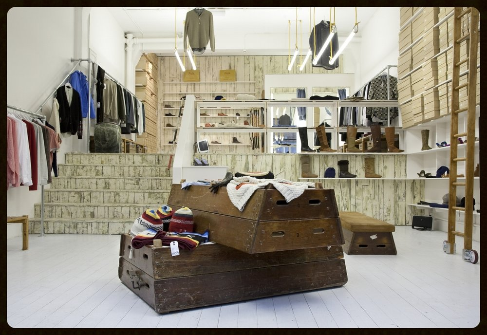 Folk Clothing shop fit, Brick Lane store, London