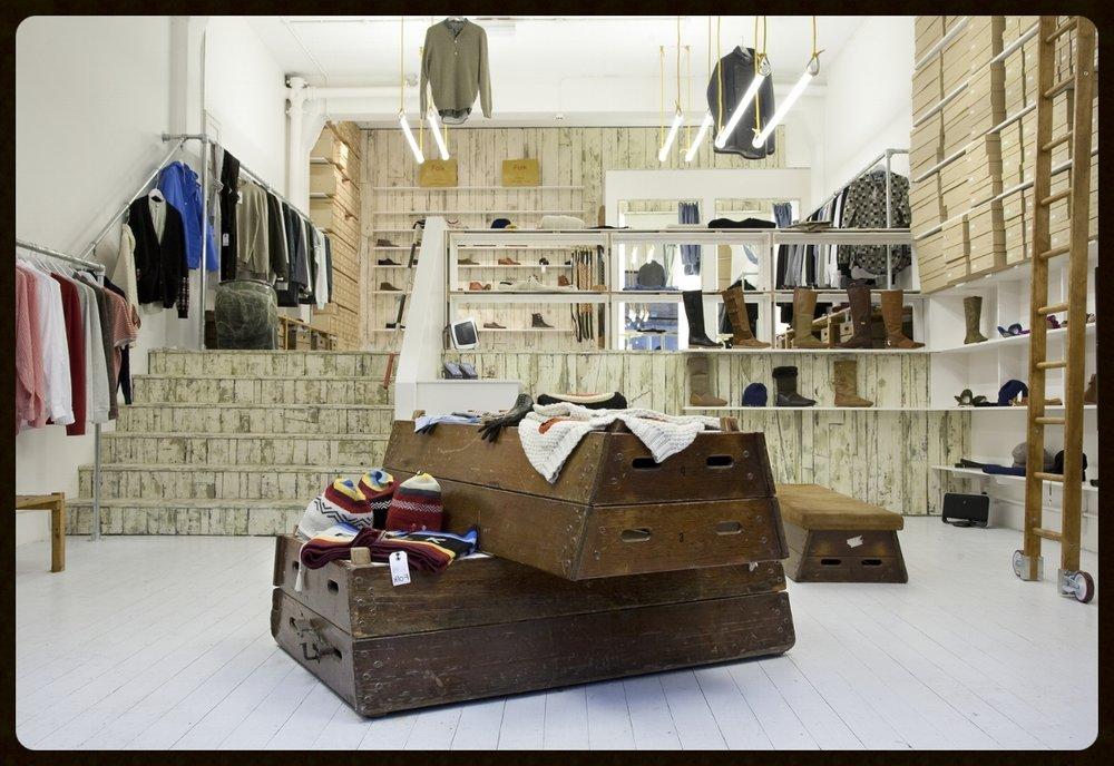 Folk Clothing shop fit, Brick Lane store, London