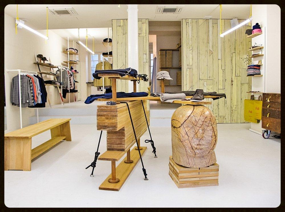 Folk Clothing shop fit, Munich Store