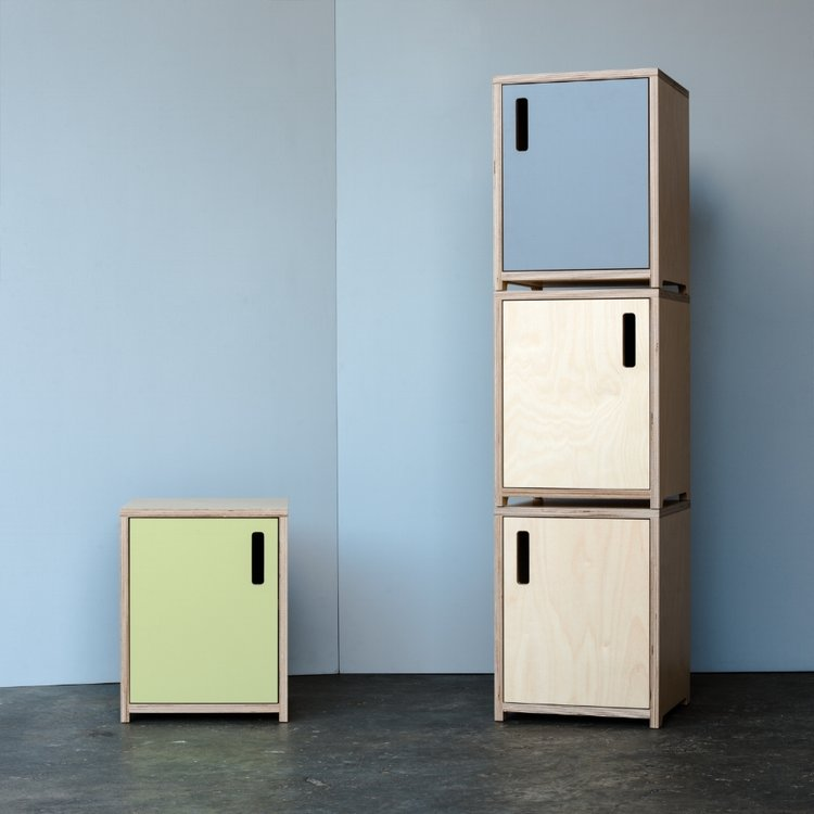Plywood Bedside Cabinets - Shoreditch Furniture Designers