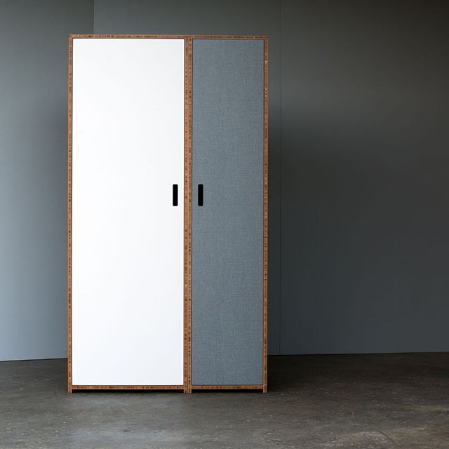 Take a look inside...  swipe. W.1800/4 and W.1800/6 Bamboo Ply Wardrobes twinning, creating an apartment sized wardrobe system. We make to order to contact us to create your bespoke wardrobe system. * * * #plywood #newzealanddesign #interiordesignnewzealand