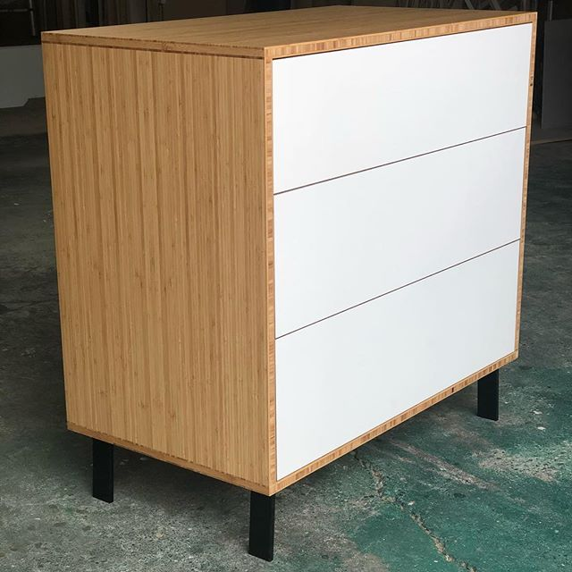 The Bamboo 3 drawer showing off its new black legs. #shoreditchfurniture #bamboo #drawers #furniture #bedroomfurniture #plywood #sustainabletimbers