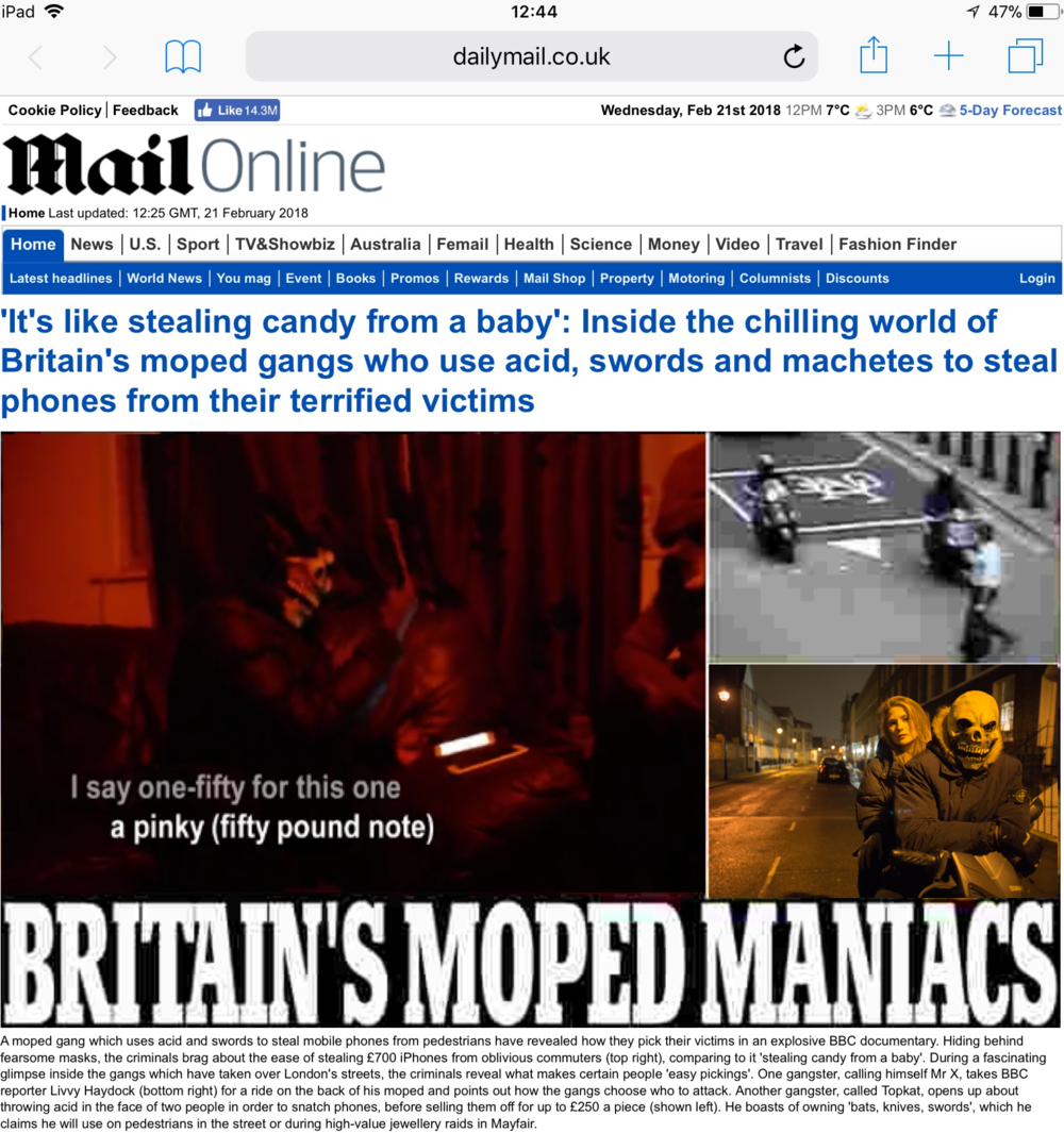 Front Page of Mail Online