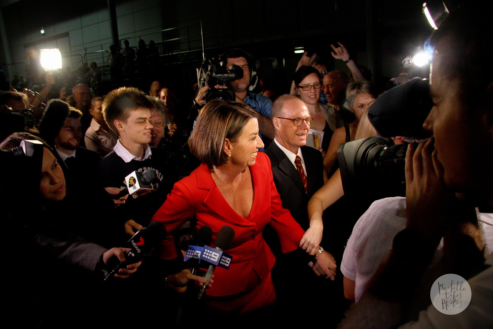 Anna Bligh wins the Queensland State Election.