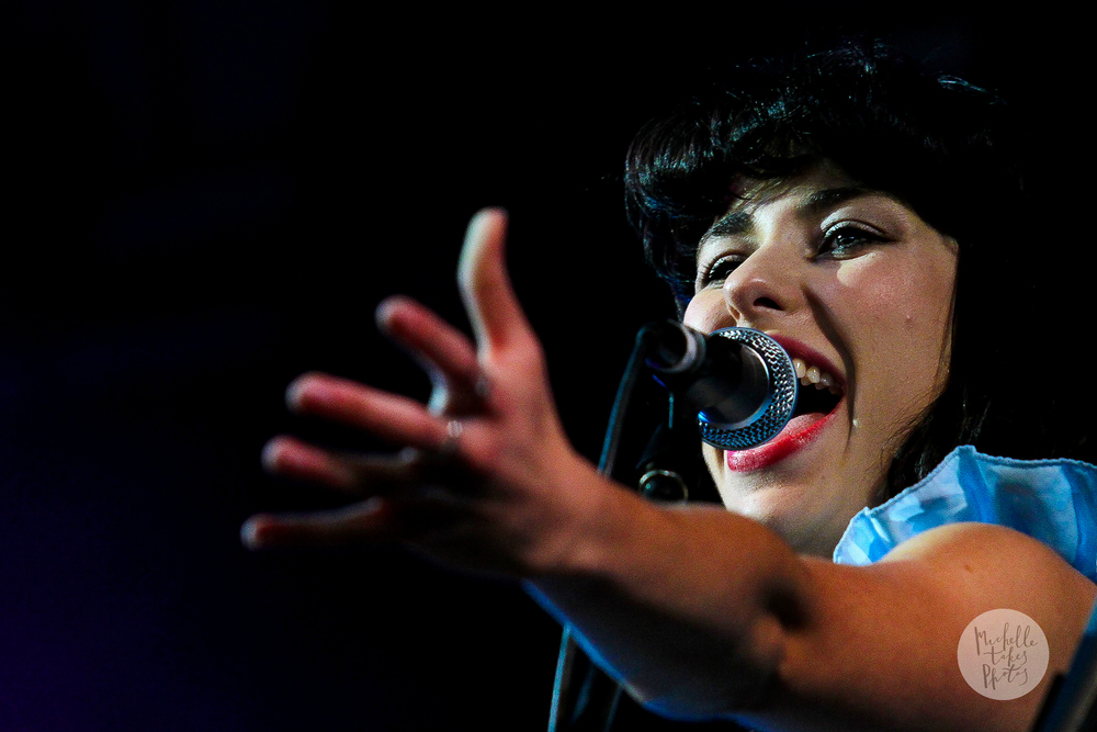 Kimbra performs on the first day of Splendour in the Grass 2011 at Woodfordia, Woodford.