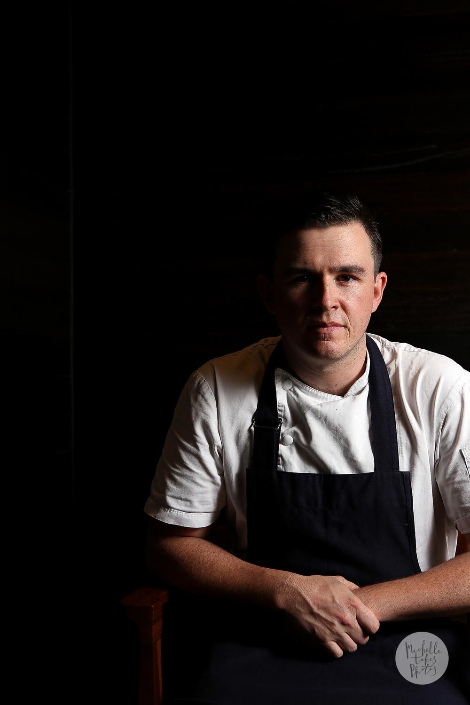 Esquire Restaurant head chef Brenden Gradidge pictured at the restaurant on Eagle Street, Brisbane.