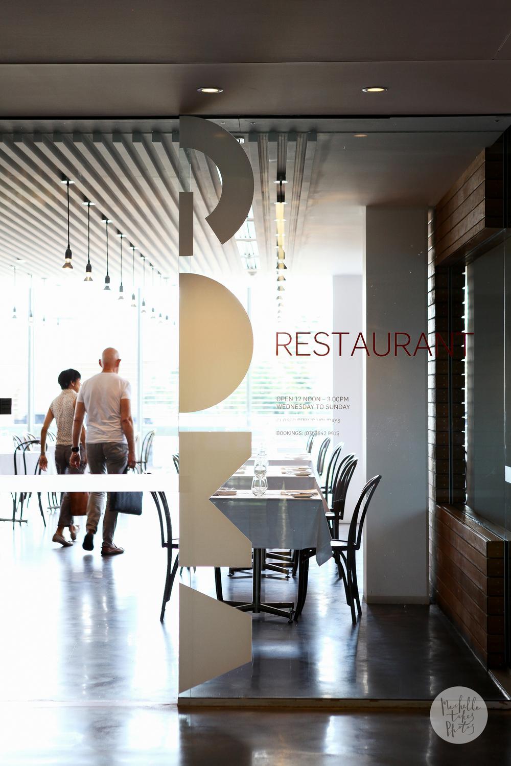 GOMA Restaurant at the Queensland Gallery of Modern Art, South Brisbane.