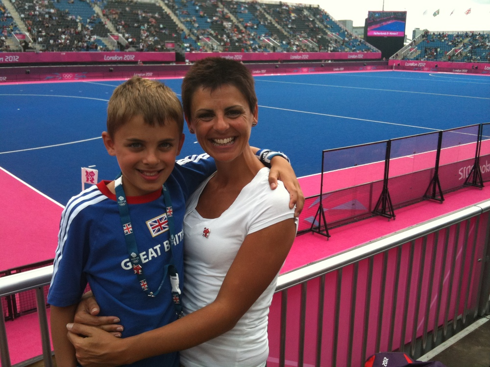 Son and I having our Olympic moment...