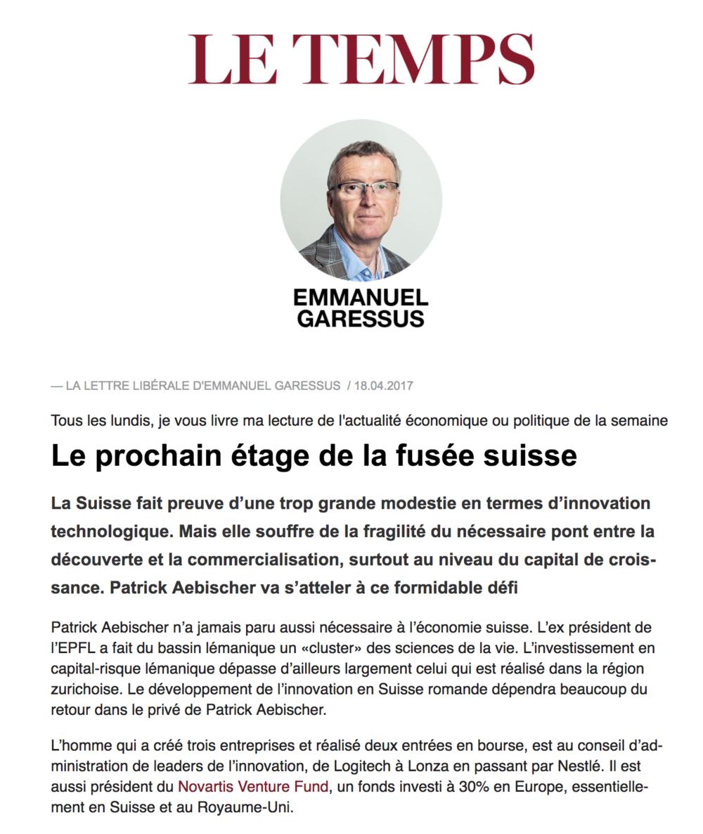 Le Temps, 2017