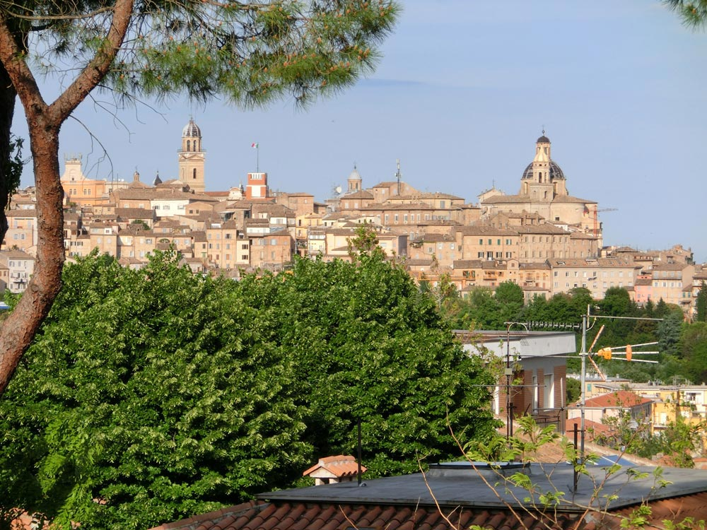 A panorama of the old center of Macerata