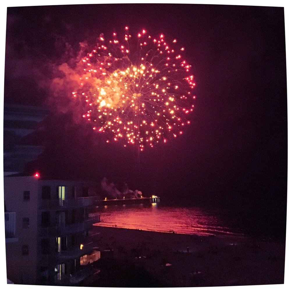 Independence Day fireworks, Okaloosa Island, June 29, 2016.