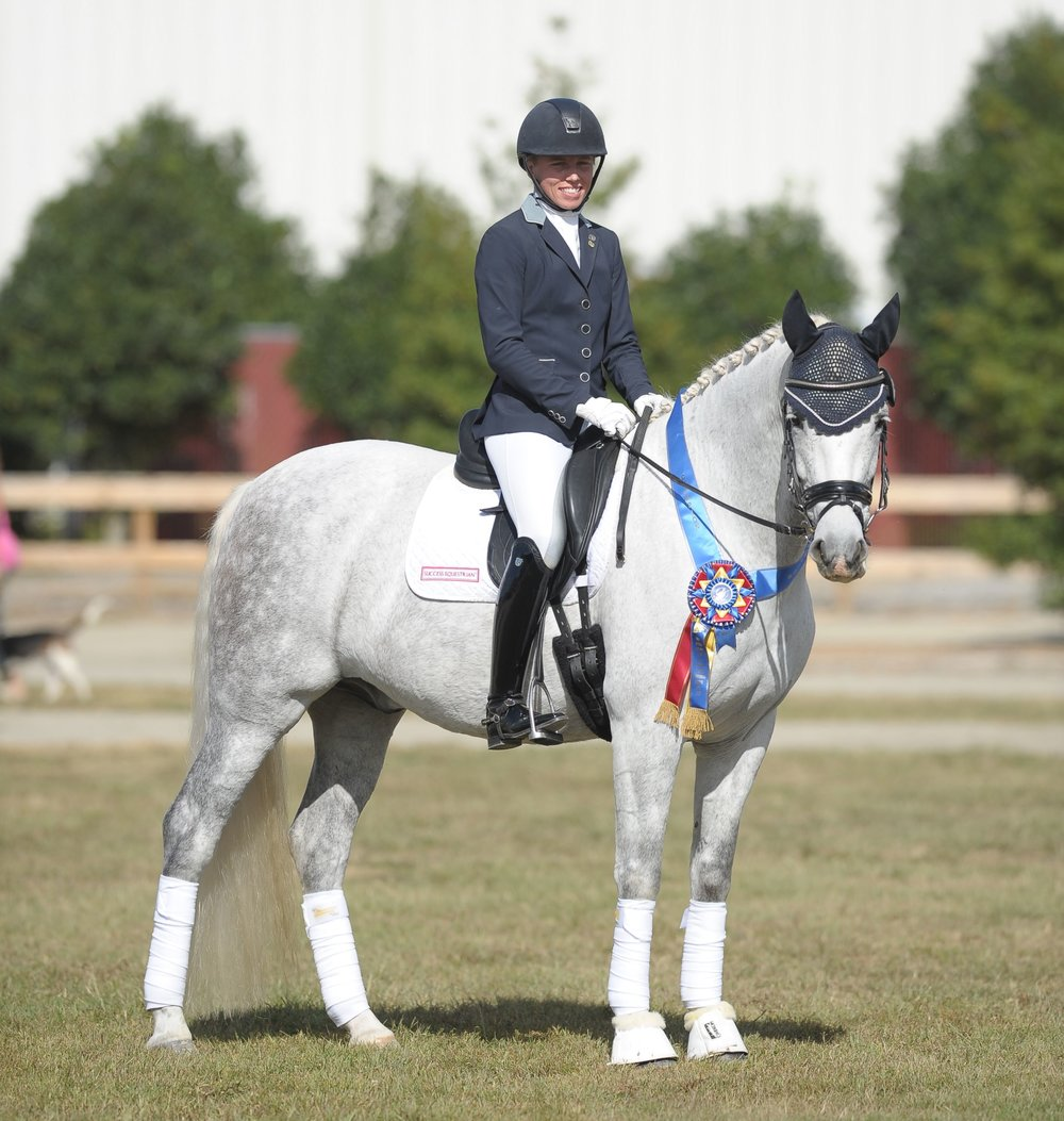 Emily with Barbara Ward's, Bernardo OSF, Region 1 Training Open Champion 2017.