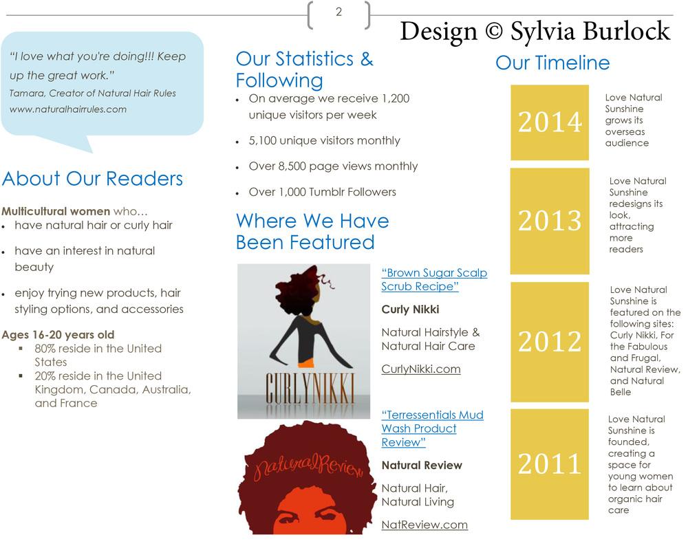 Media Kit Design Pg. 2