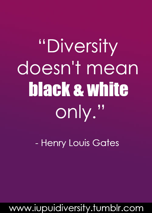 What is the definition of diversity?  What do you think this quote means?