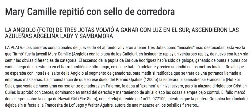 Nota: Turf Diario