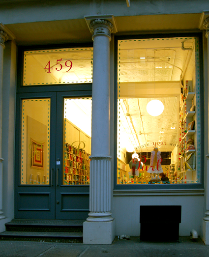 Purl Soho Nighttime Storefront
